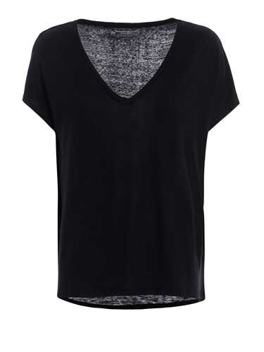 Picture of MAJESTIC FILATURES | Women's Linen V-neck T-Shirt