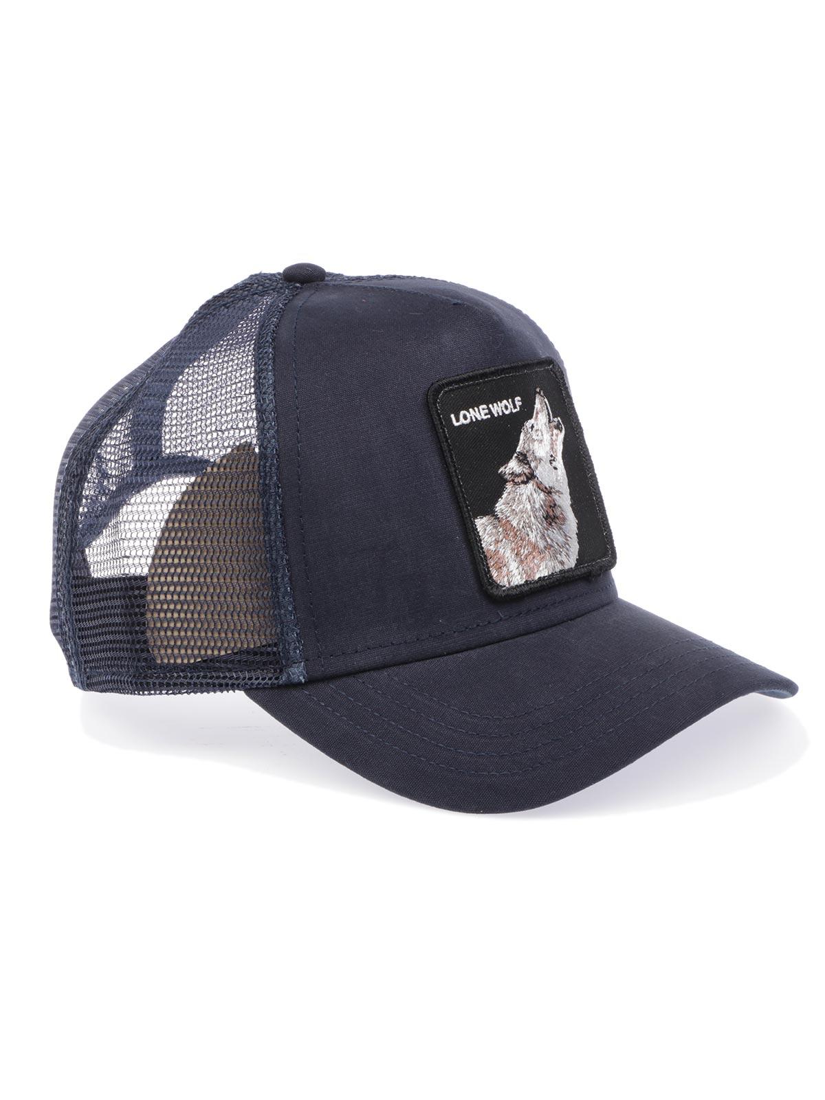 e140fafd44491 GOORIN BROS Men s Lone Wolf Trucker Cap Blue