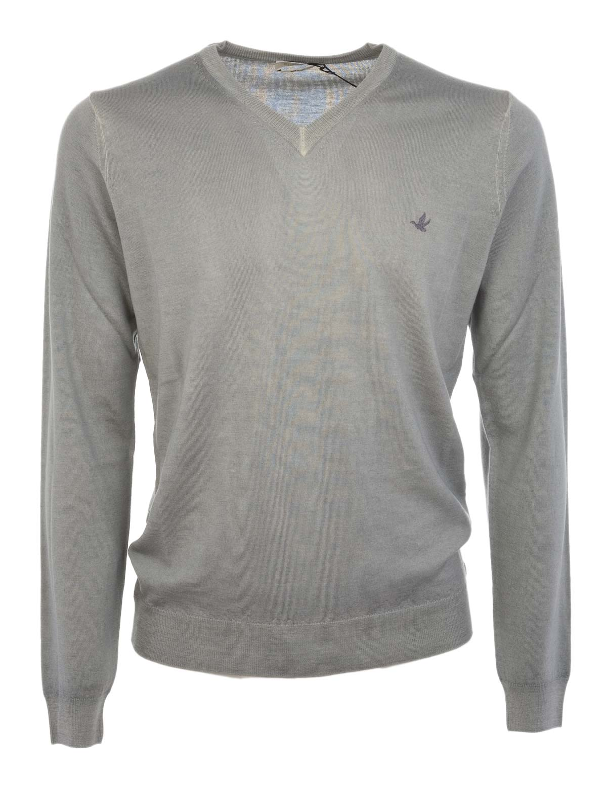 Picture of BROOKSFIELD | Virgin Wool V-Neck Sweater
