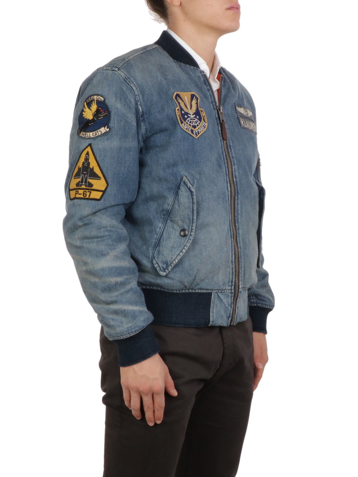 Picture of POLO RALPH LAUREN | Men's Patch Army Bomber Jacket