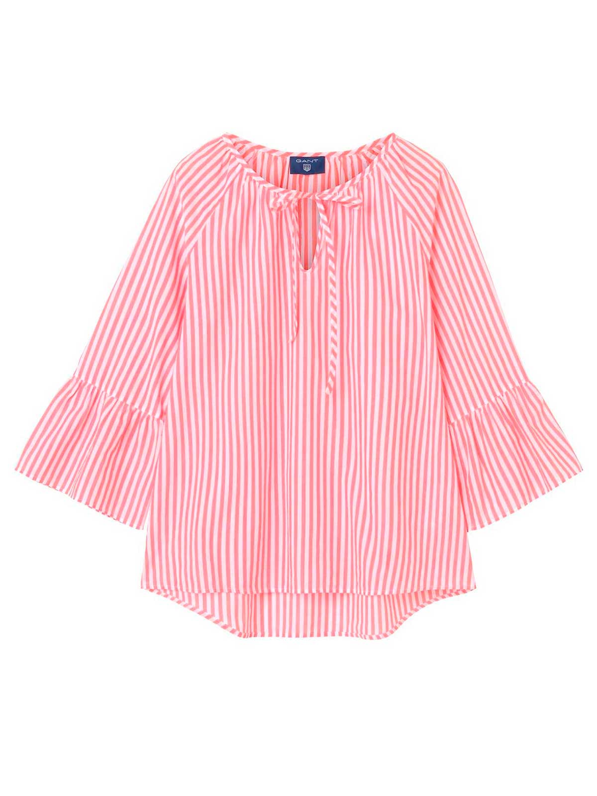 Picture of GANT | Women's Striped Ruffle-Sleeve Bluse