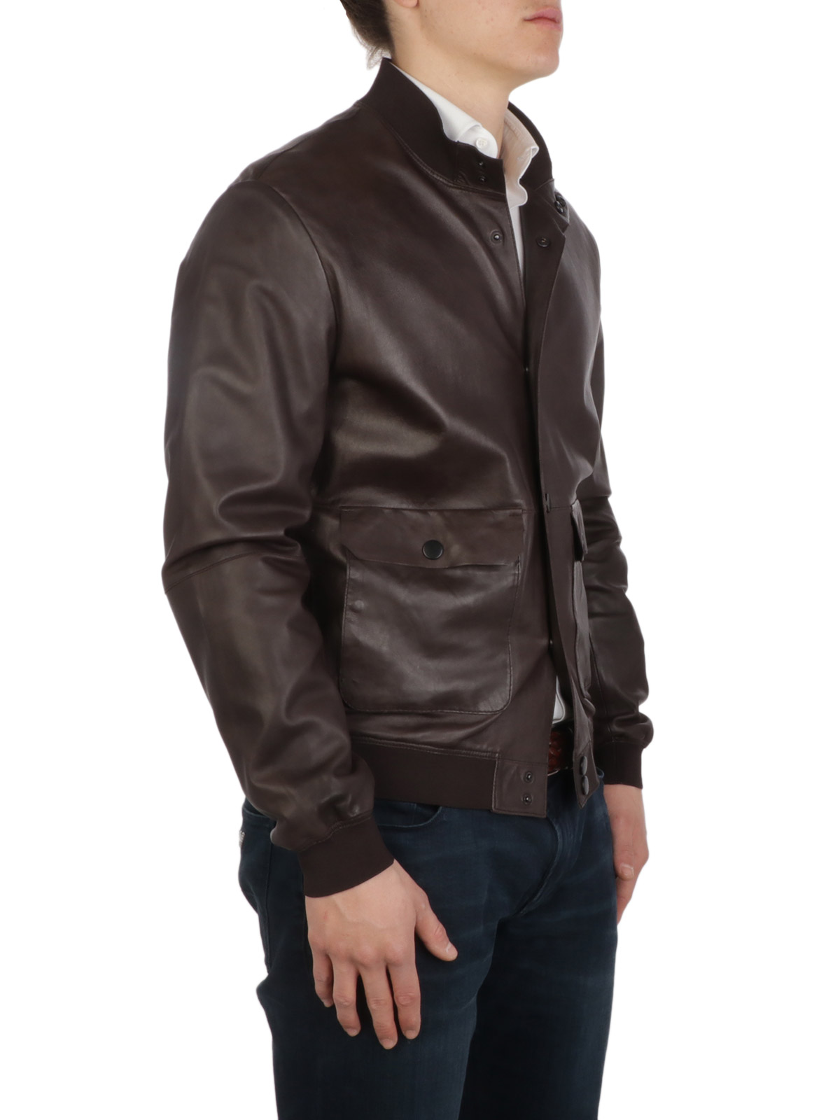 Picture of THE JACK LEATHERS   Men's Wedge Leather Jacket