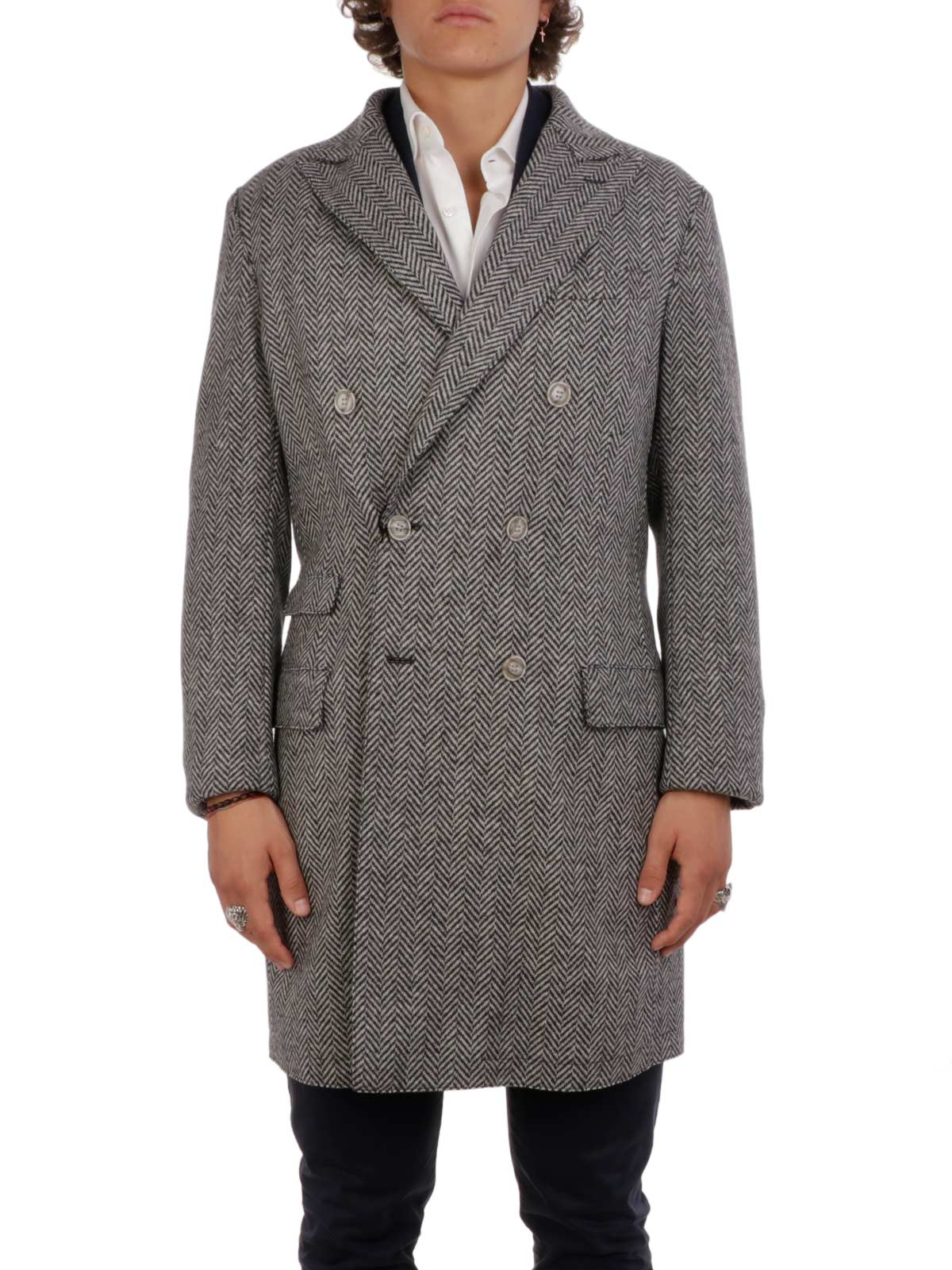 Picture of ELEVENTY   Wool Double Breasted Coat