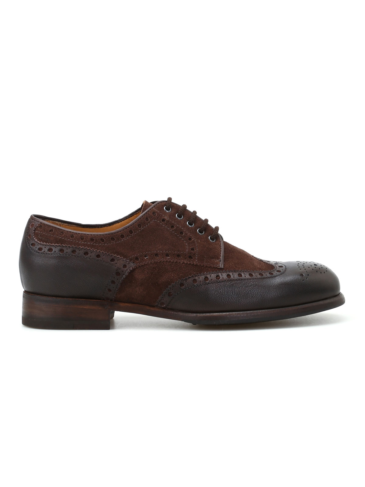 Picture of BARRETT | FOOTWEAR Derby brogue in camoscio e pelle