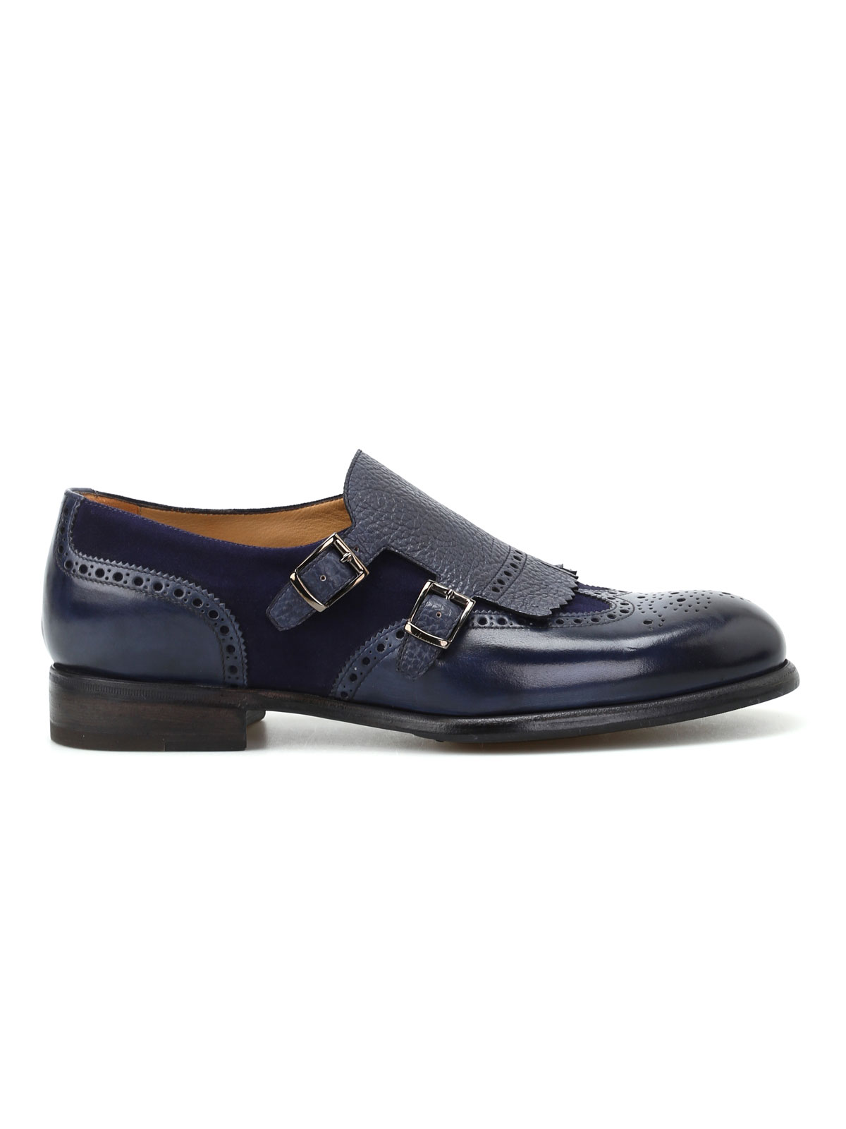 Immagine di BARRETT | FOOTWEAR Monk strap brogue in pelle e suede