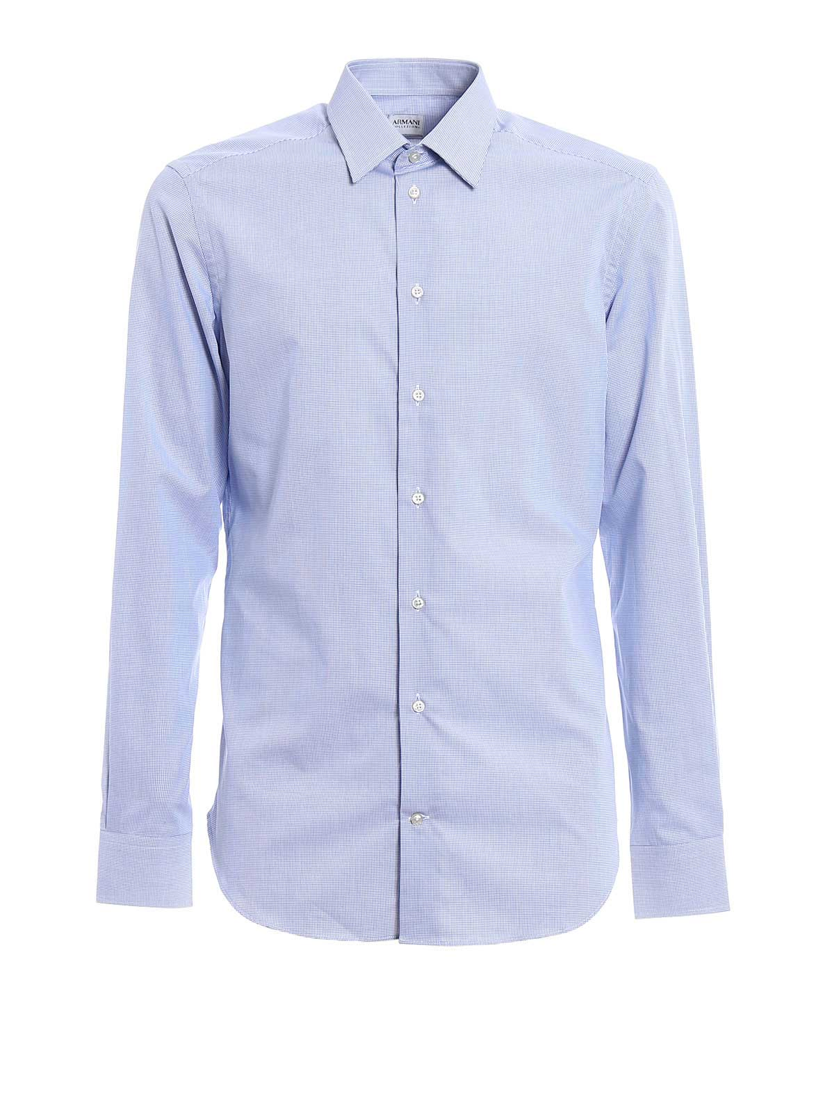 Picture of ARMANI | Vichy Slim Shirt