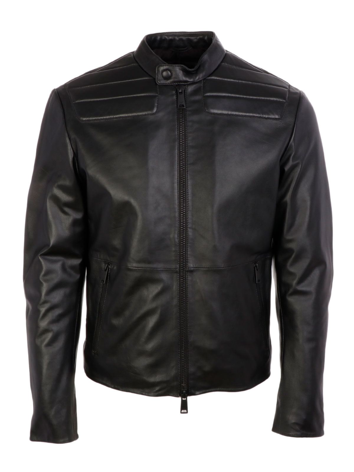 Picture of EMPORIO ARMANI | Men's Biker Leather Jacket