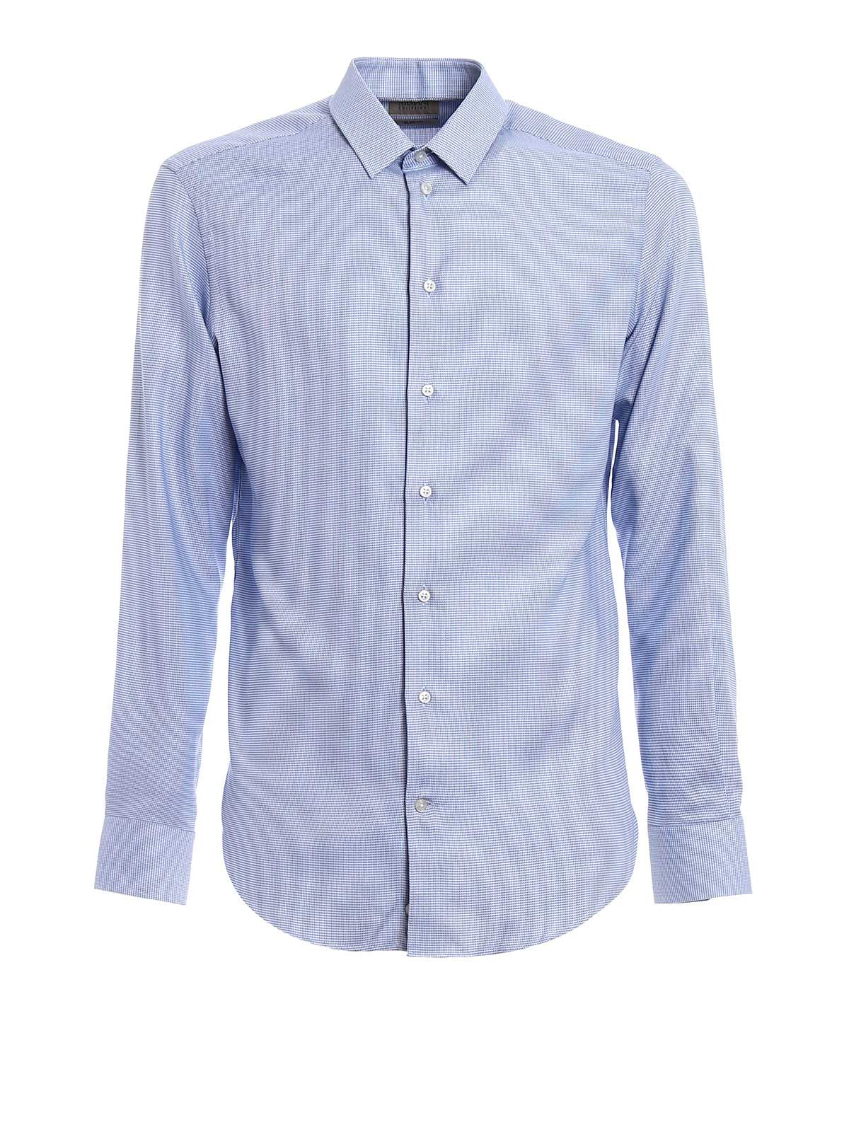 Picture of ARMANI | Camicie Camicia slim in cotone fantasia