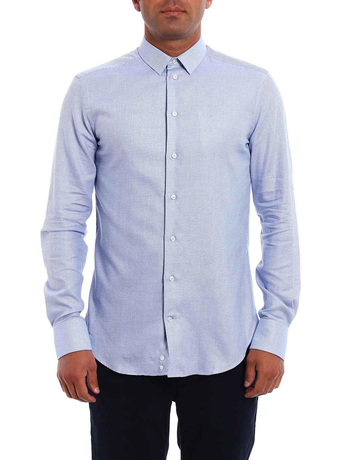 Immagine di ARMANI | Camicie Camicia slim in cotone fantasia