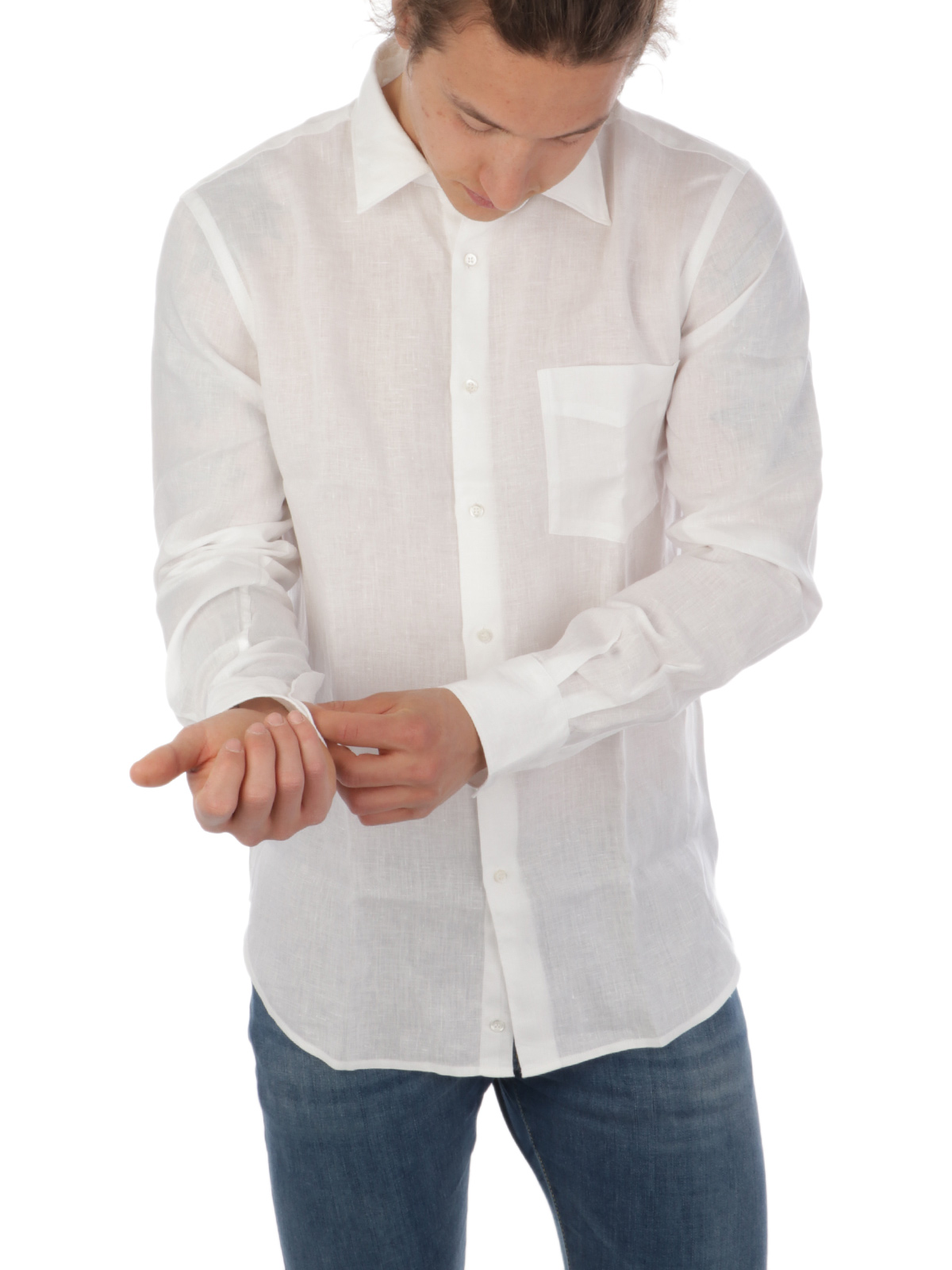Picture of ASPESI   Men's Mod. Sedici Linen Shirt