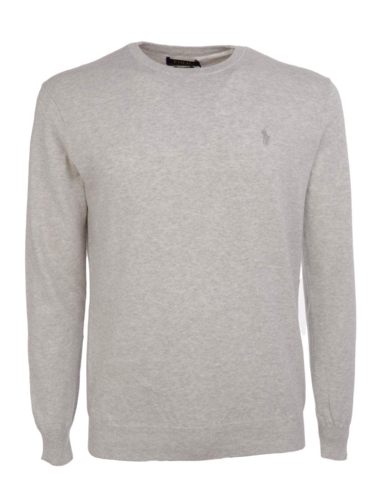 a93747817 POLO RALPH LAUREN Men s Crewneck Sweater Grey Htr