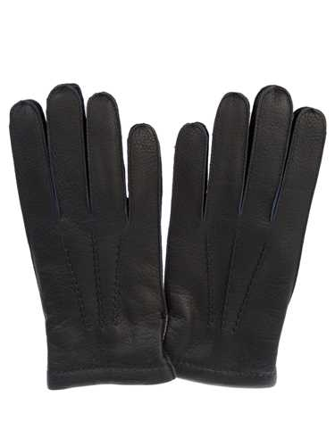 Picture of MEROLA | Leather and Cashmere Gloves
