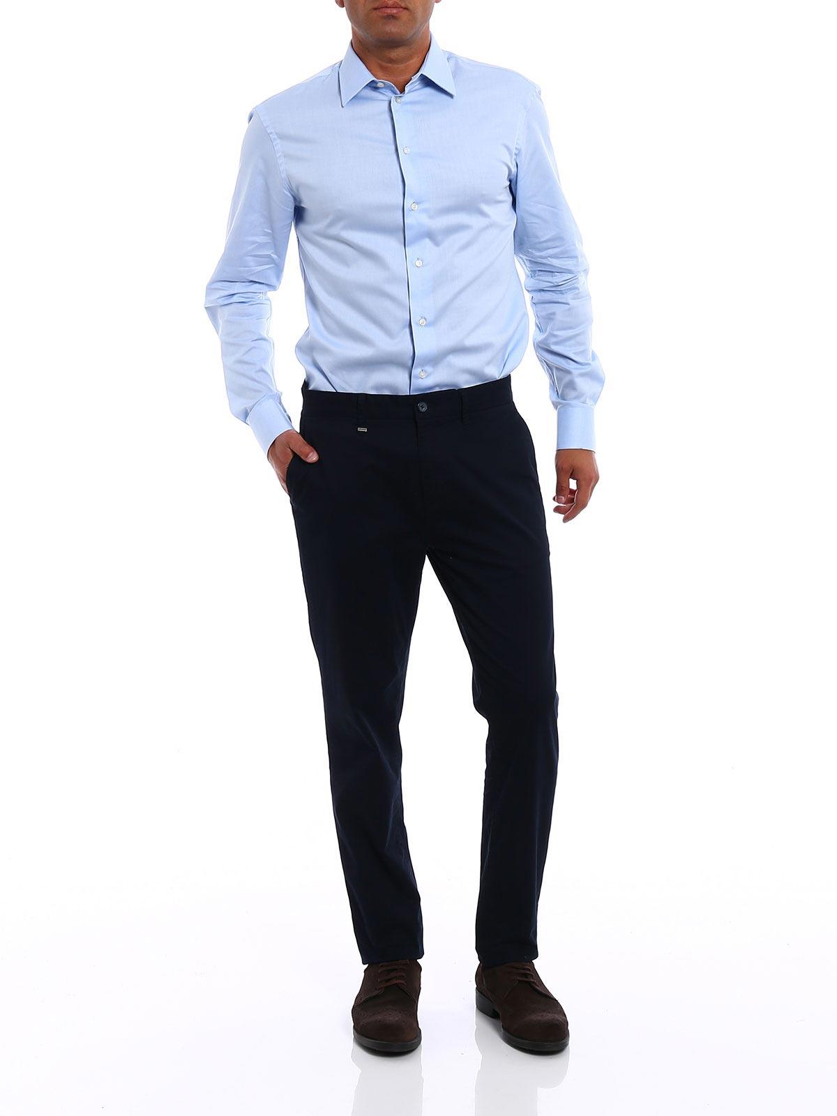 Picture of ARMANI | Camicie Camicia in cotone modern fit