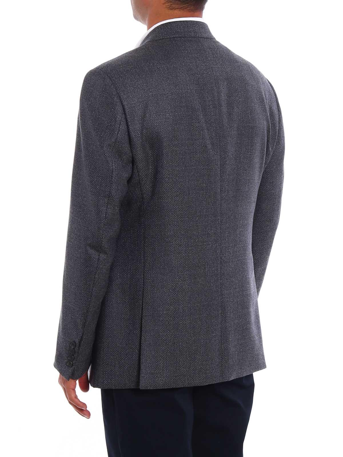 reputable site 940c4 0e05a ARMANI Giacche Giacca in lana e cashmere jacquard