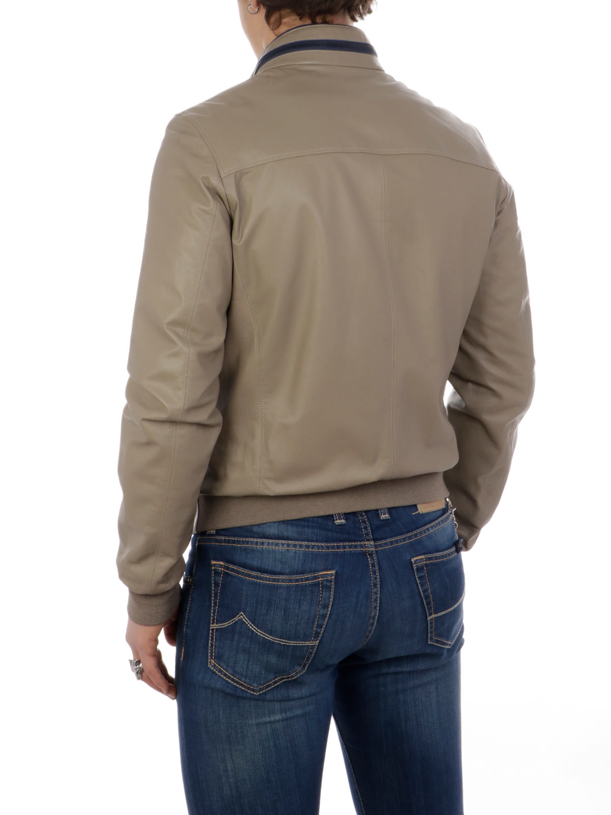 Picture of GIMO'S   Men's Reversible Leather Jacket