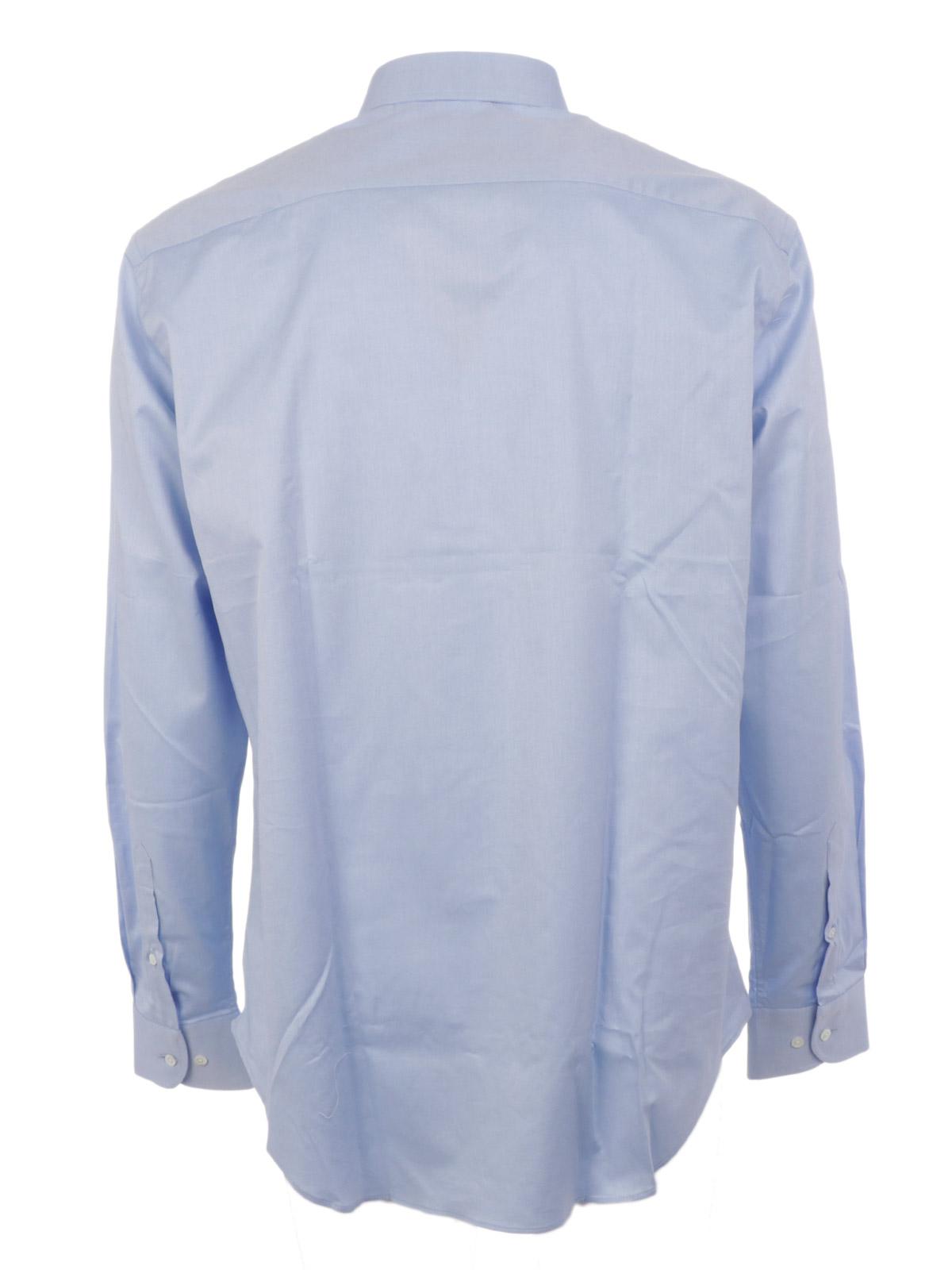 detailed look 59e7e 5b142 EMPORIO ARMANI Camicia Uomo Twill di Cotone