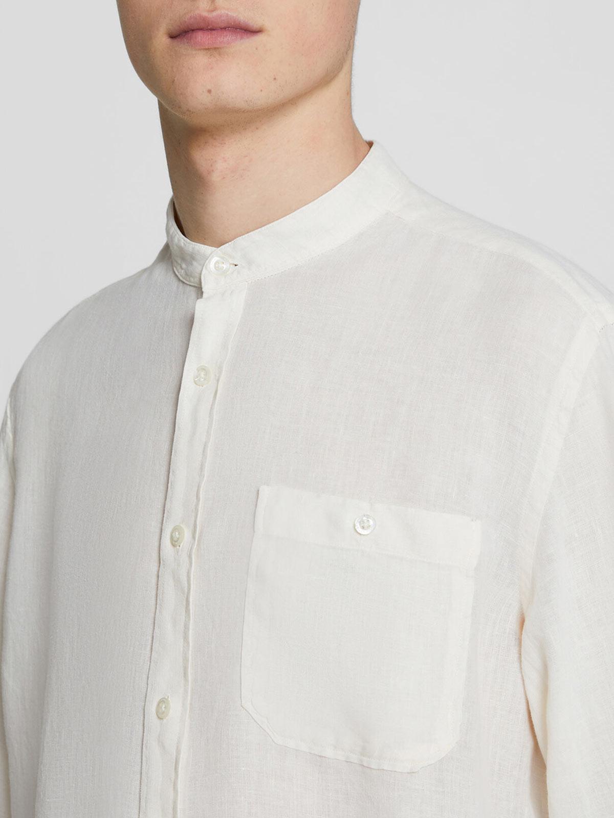 Immagine di WOOLRICH | Camicia Coreana Uomo in Lino