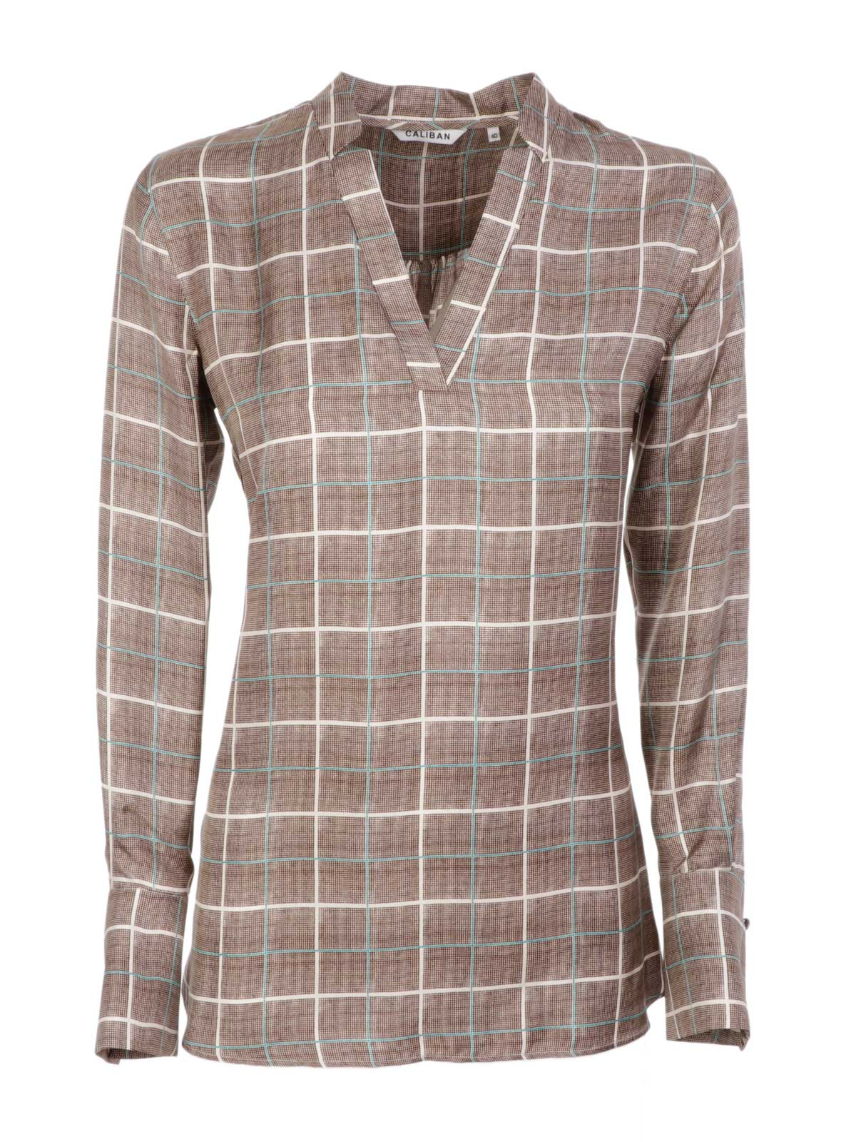 Picture of CALIBAN | Women's Check Silk Blouse