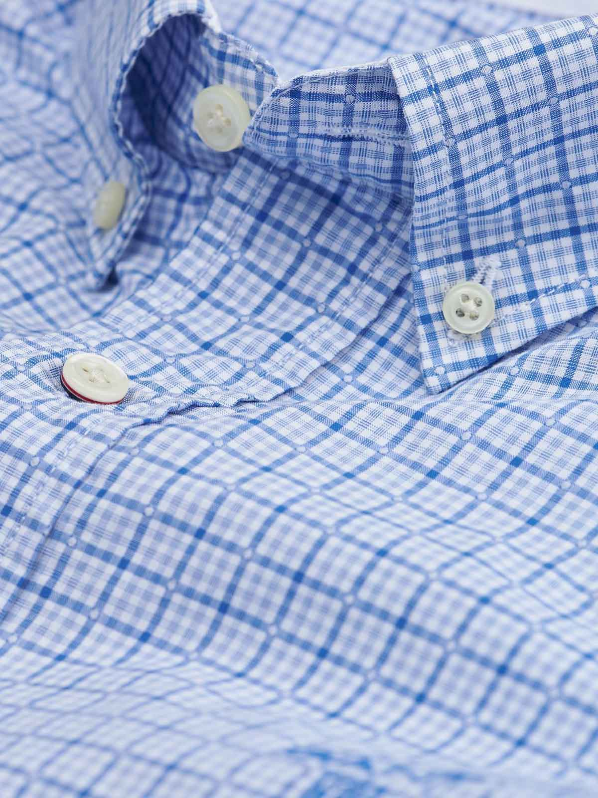Picture of Gant Fil-à-Fil Checked Fitted Shirt