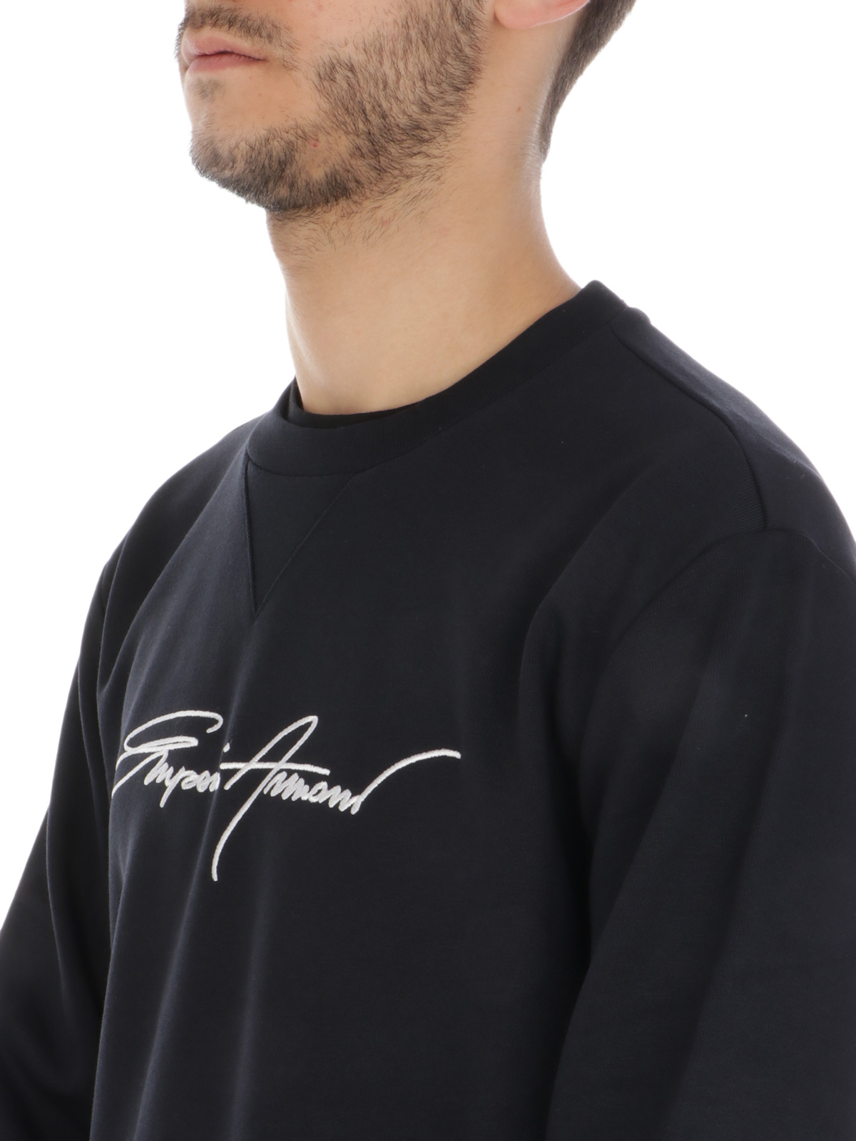Picture of EMPORIO ARMANI | Men's Sweatshirt with Signature