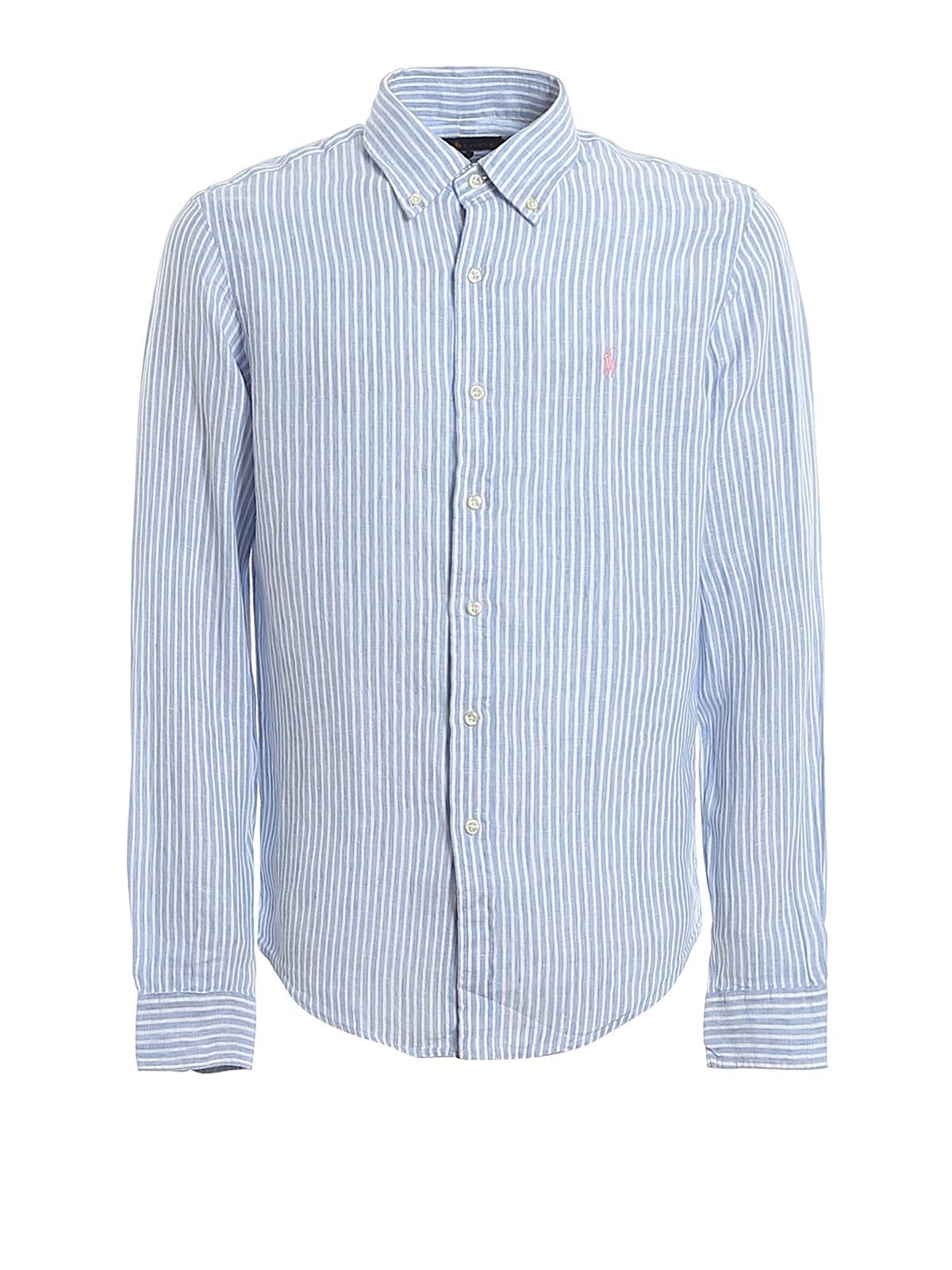 Picture of POLO RALPH LAUREN   Men's Linen Striped Shirt
