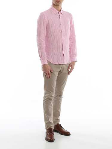 Picture of POLO RALPH LAUREN | Men's Linen Striped Shirt