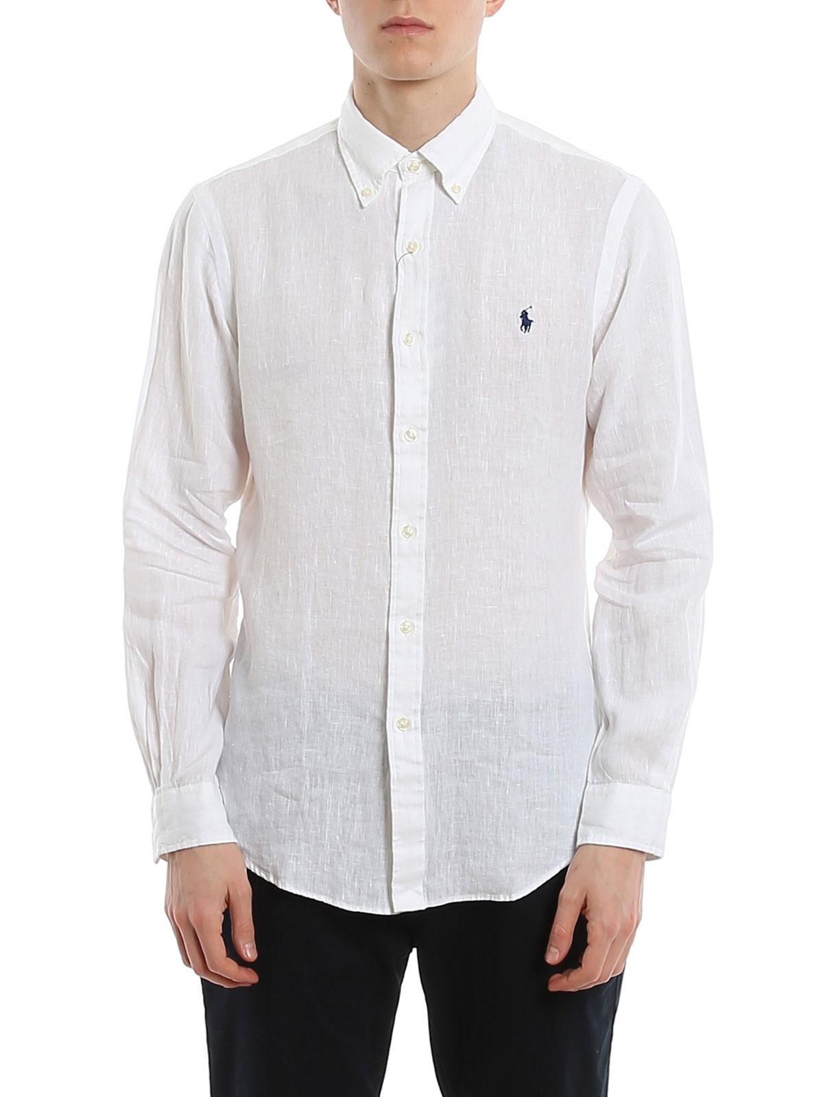 Picture of POLO RALPH LAUREN   Men's Linen Slim Fit Shirt