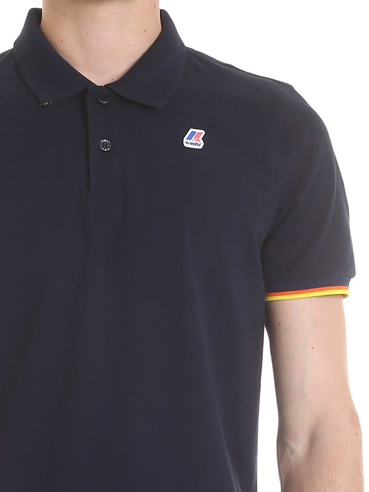 Picture of K-WAY   Men's Stretch Cotton Polo Shirt