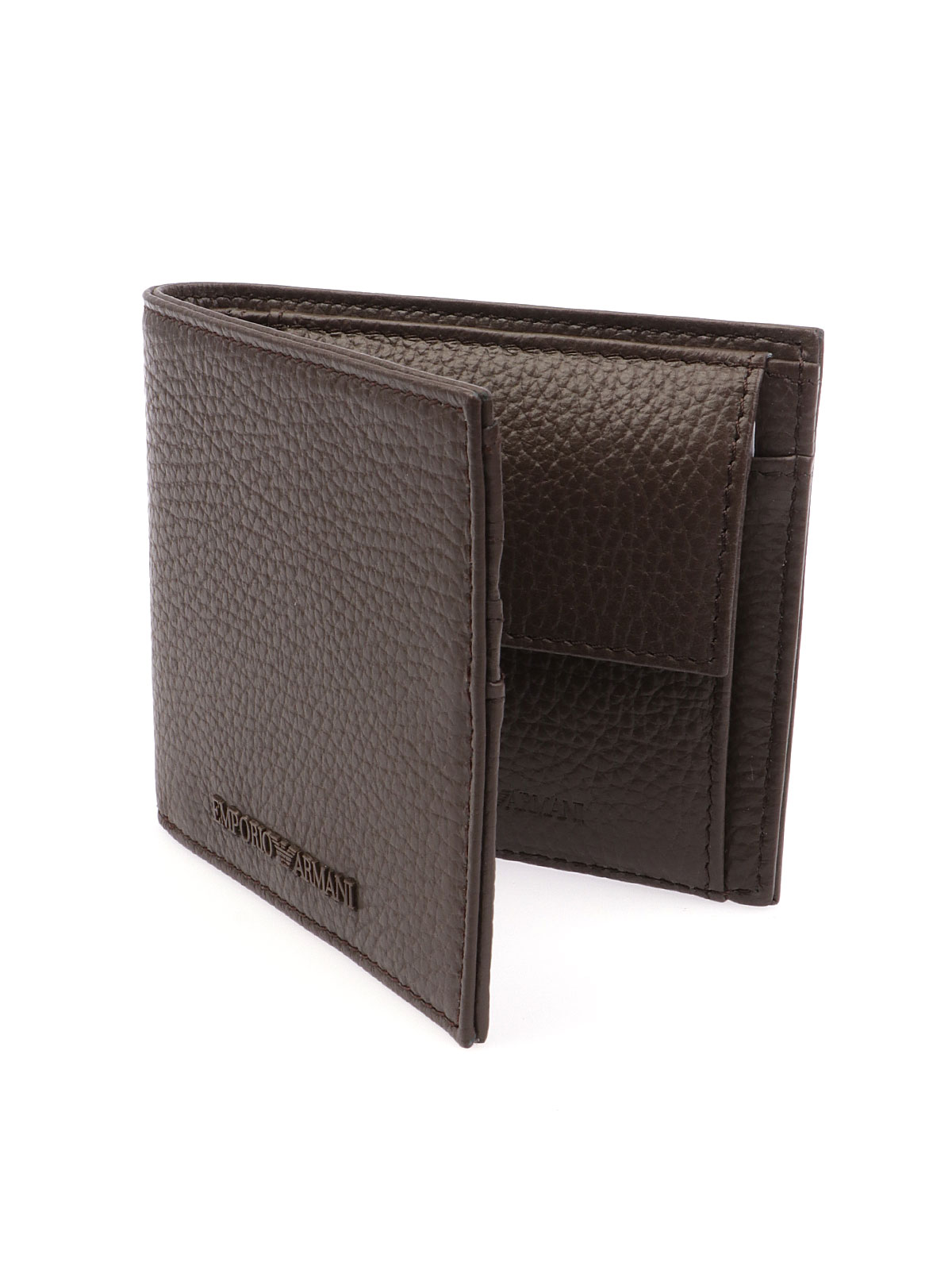 Picture of EMPORIO ARMANI | Men's Tumbled Leather Wallet