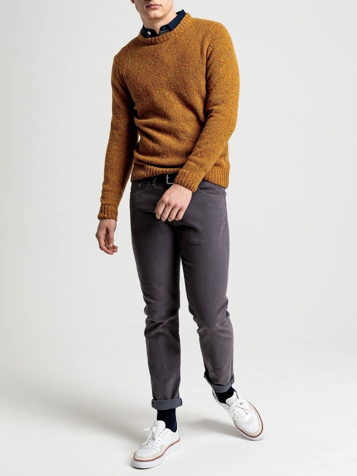 Picture of GANT | JERSEY D2. NEPS KNIT CREW
