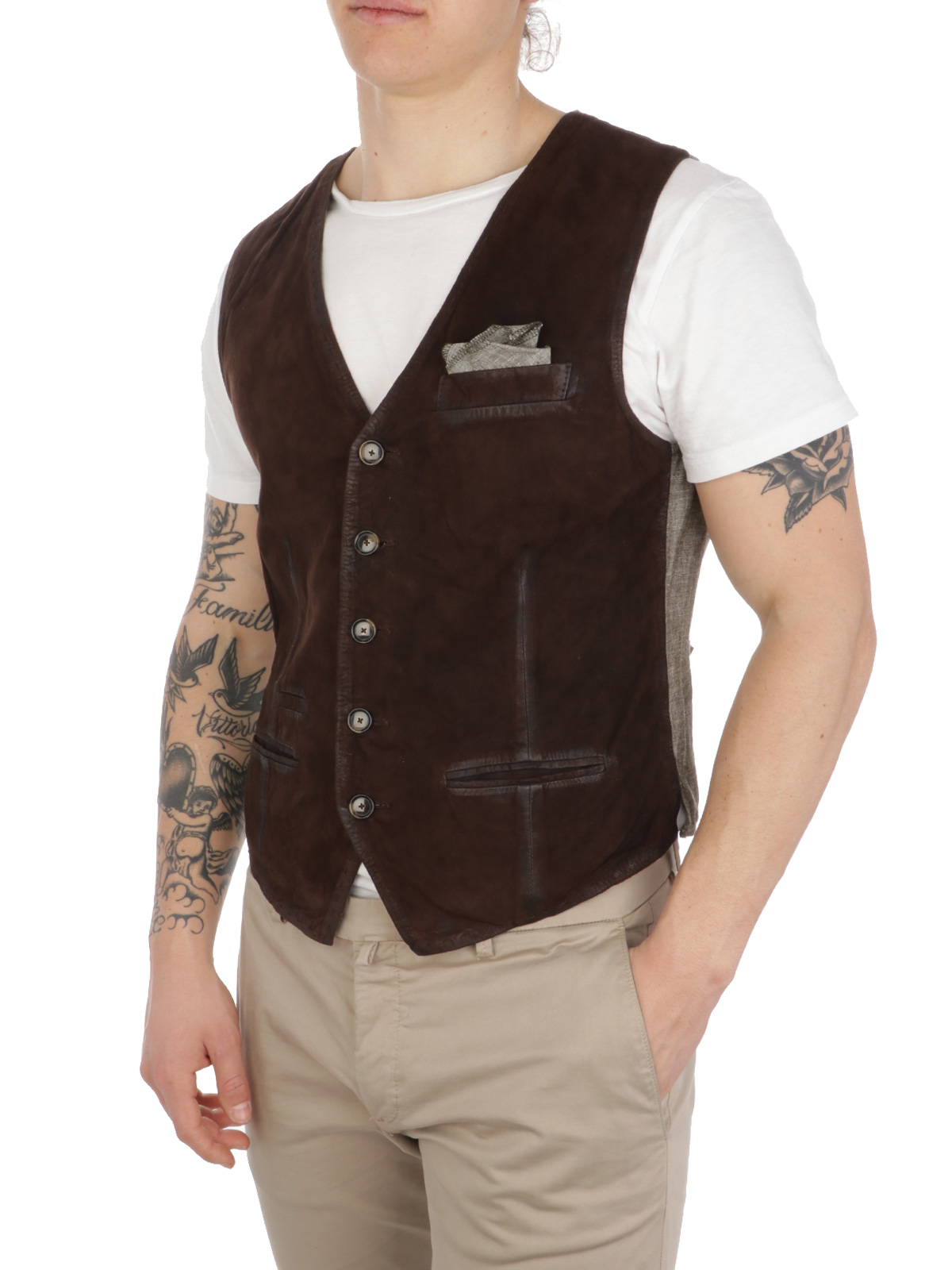 Picture of THE JACK LEATHERS | Men's Lorry 2.0 Suede Waistcoat