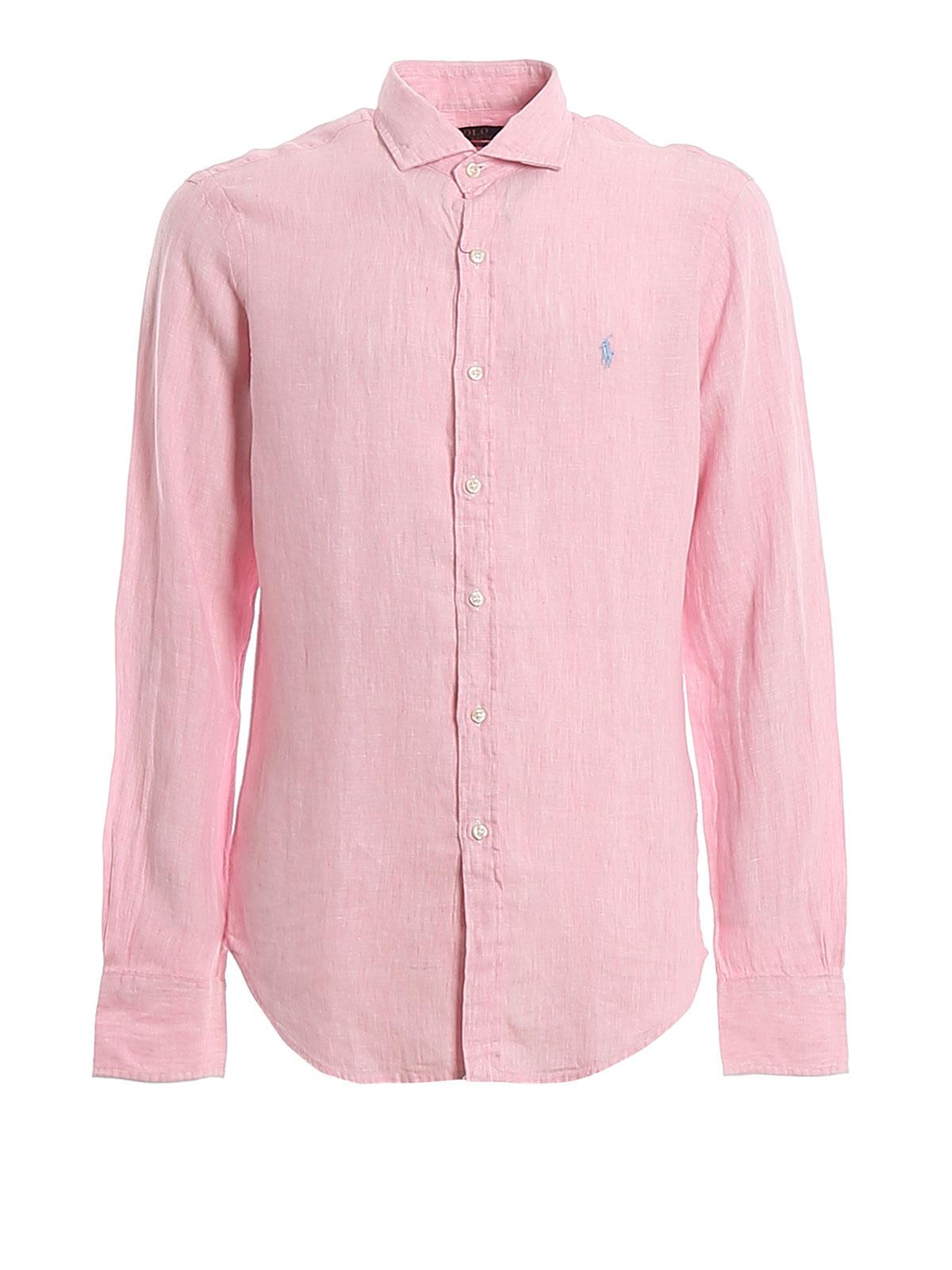 Picture of POLO RALPH LAUREN   Men's Linen French Collar Shirt