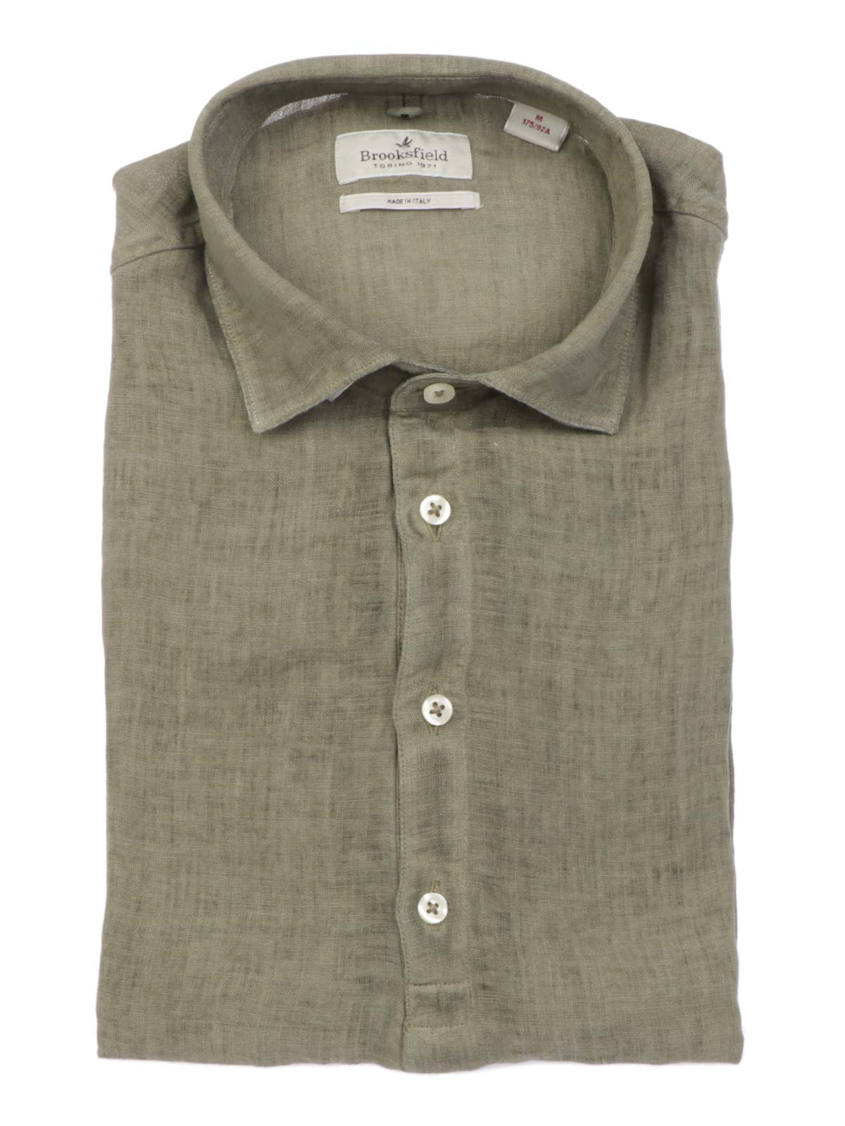 Picture of BROOKSFIELD   Men's Short Sleeves Linen Shirt