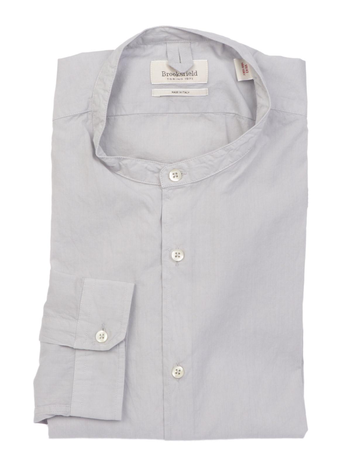 Picture of BROOKSFIELD   Men's Slim Fit Mandarin Shirt