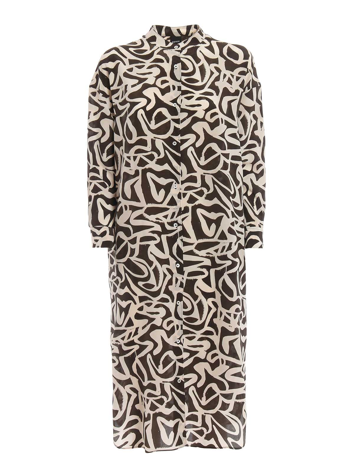Picture of ASPESI | Women's Printed Silk Dress