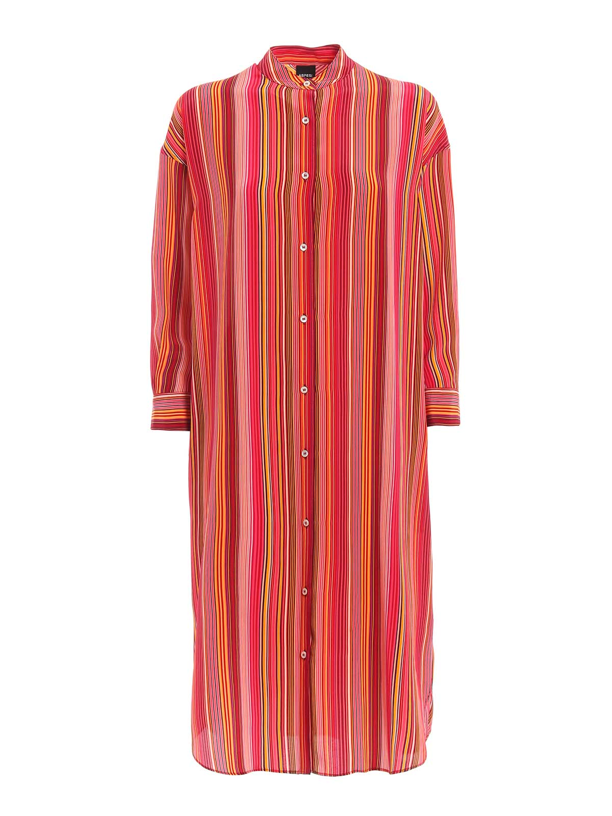 Picture of ASPESI | Women's Striped Silk Dress