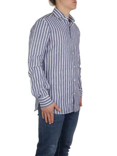 Picture of BARBA | Men's Striped Linen Shirt