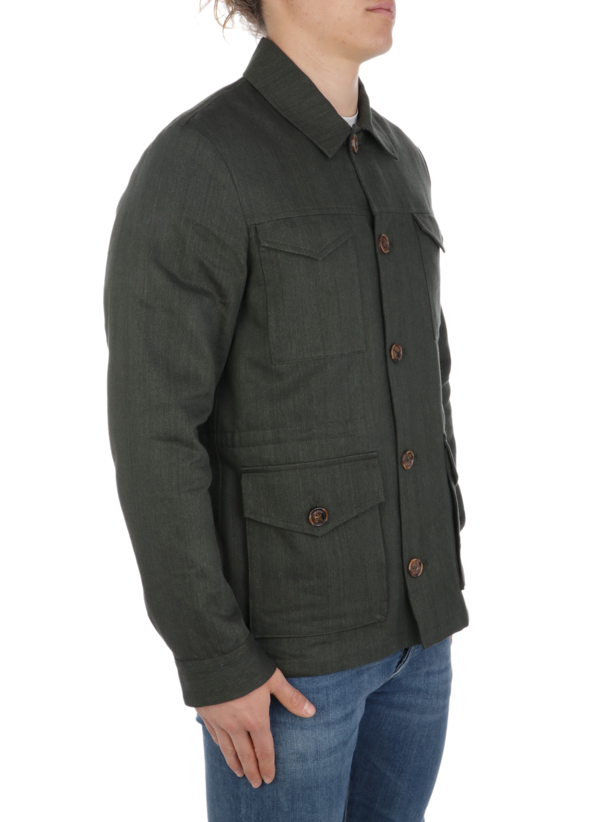 Picture of VALSTAR | Harringbone Linen Field Jacket