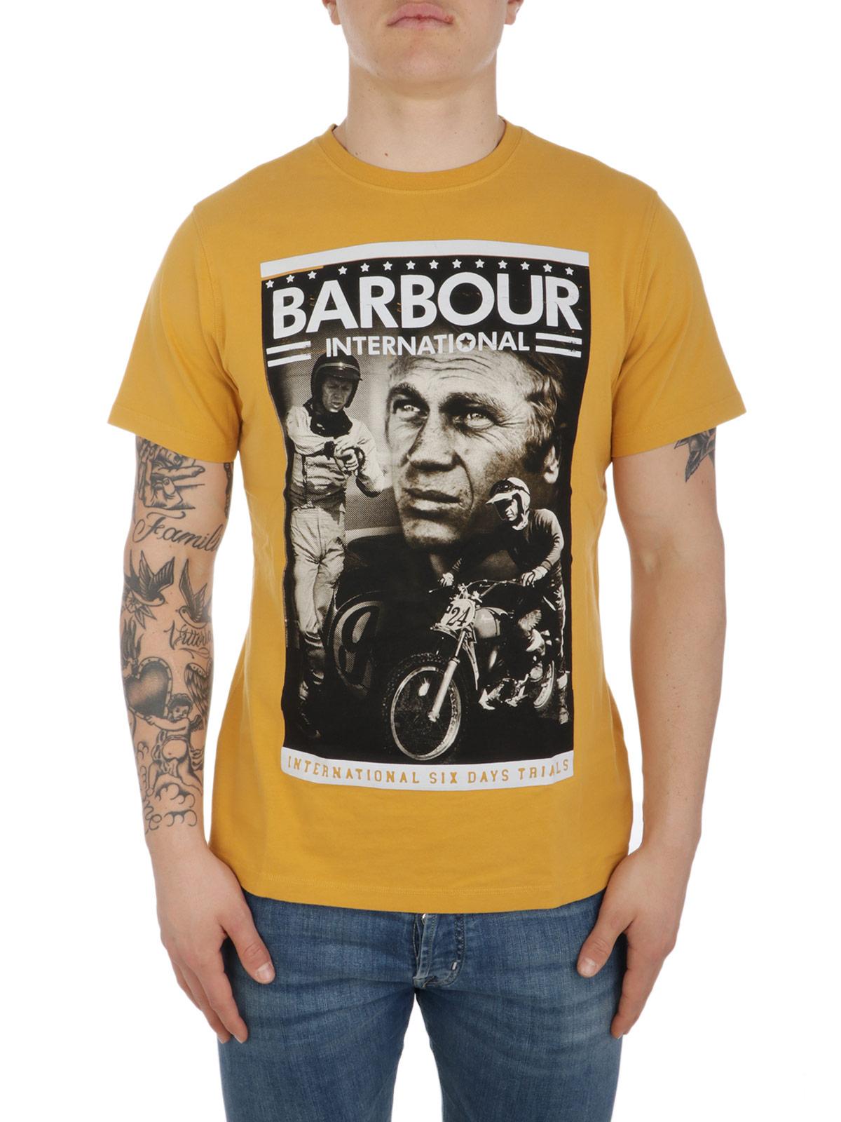 Picture of BARBOUR | Men's Steve McQueen Combo T-Shirt