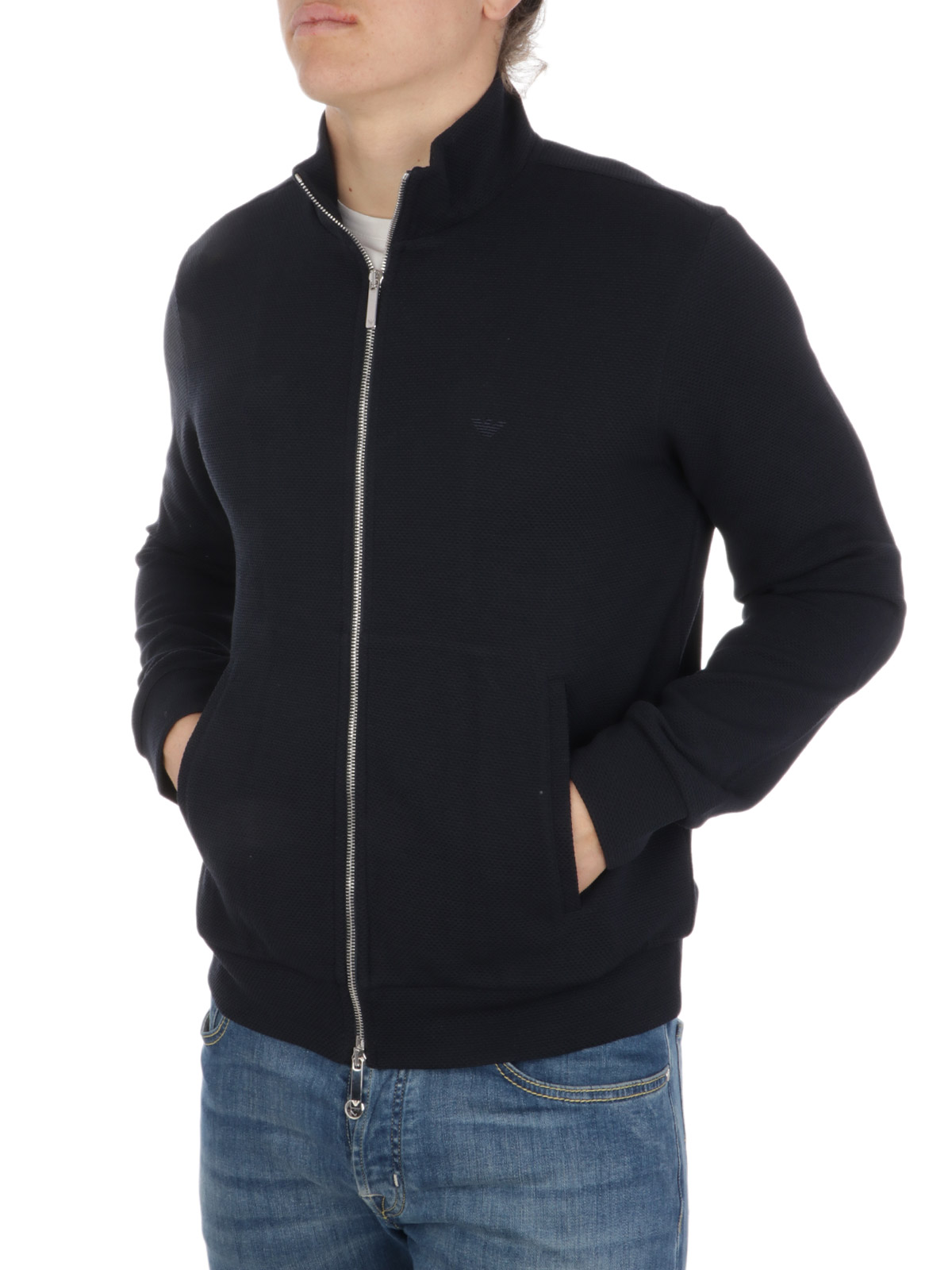 Picture of EMPORIO ARMANI | Men's Jersey Zipped Blouson