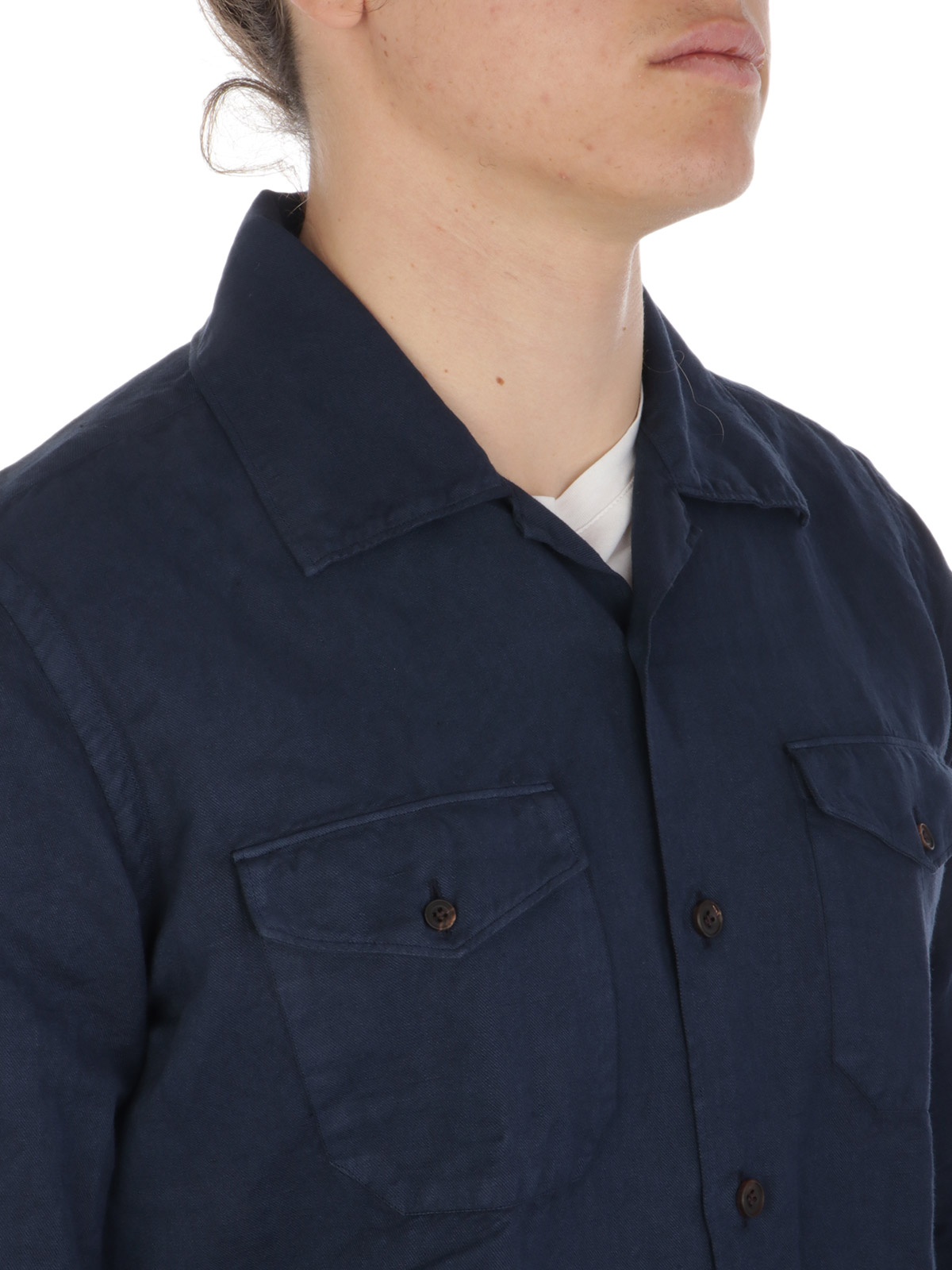 Picture of ELEVENTY | Men's Cotton and Linen Shirt