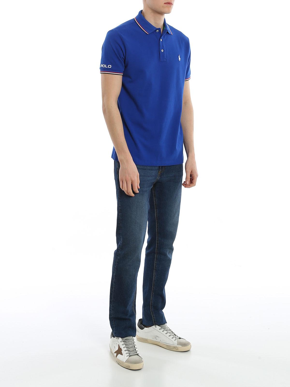 Picture of POLO RALPH LAUREN | Men's Lettering Polo Shirt
