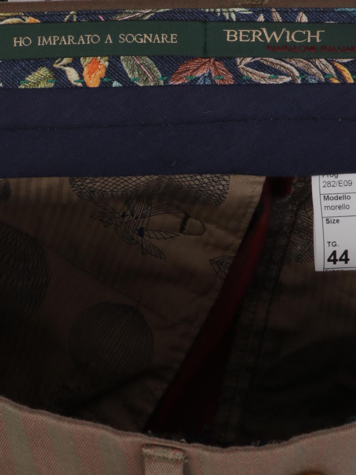 Immagine di BERWICH | Pantalone Uomo Retro in Cotone Rigato