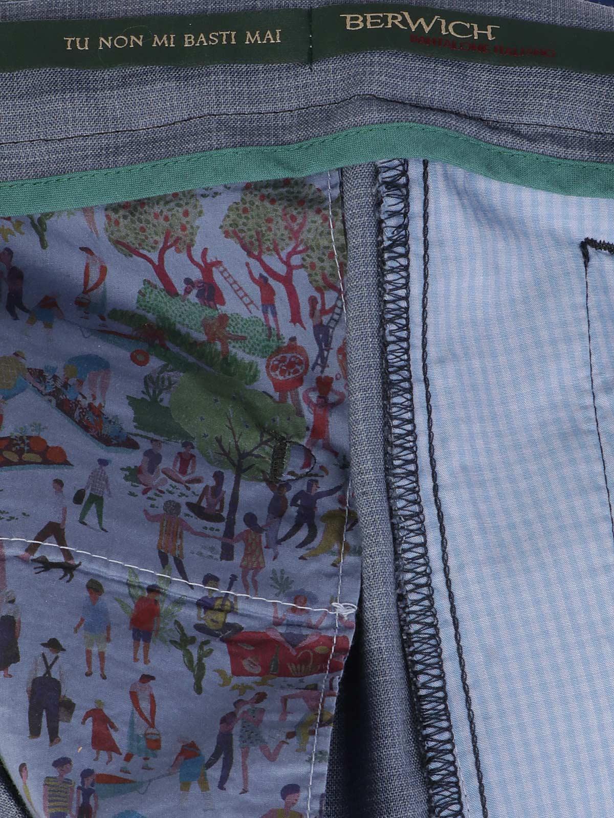 Picture of BERWICH   Men's Wool Retro Trousers