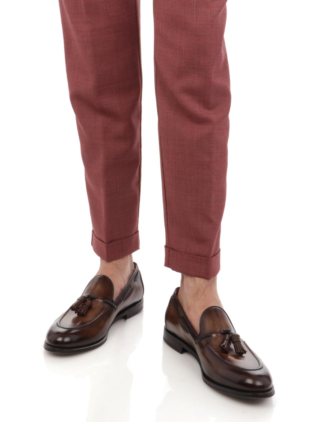 Picture of BERWICH | Men's Wool Retro Trousers