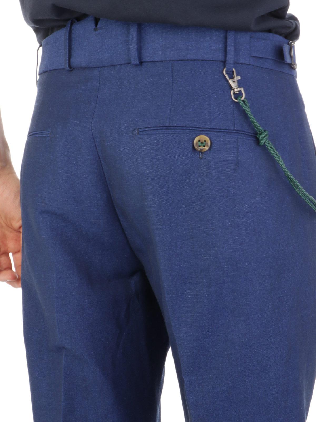 Picture of BERWICH | Men's Linen Retro Trousers