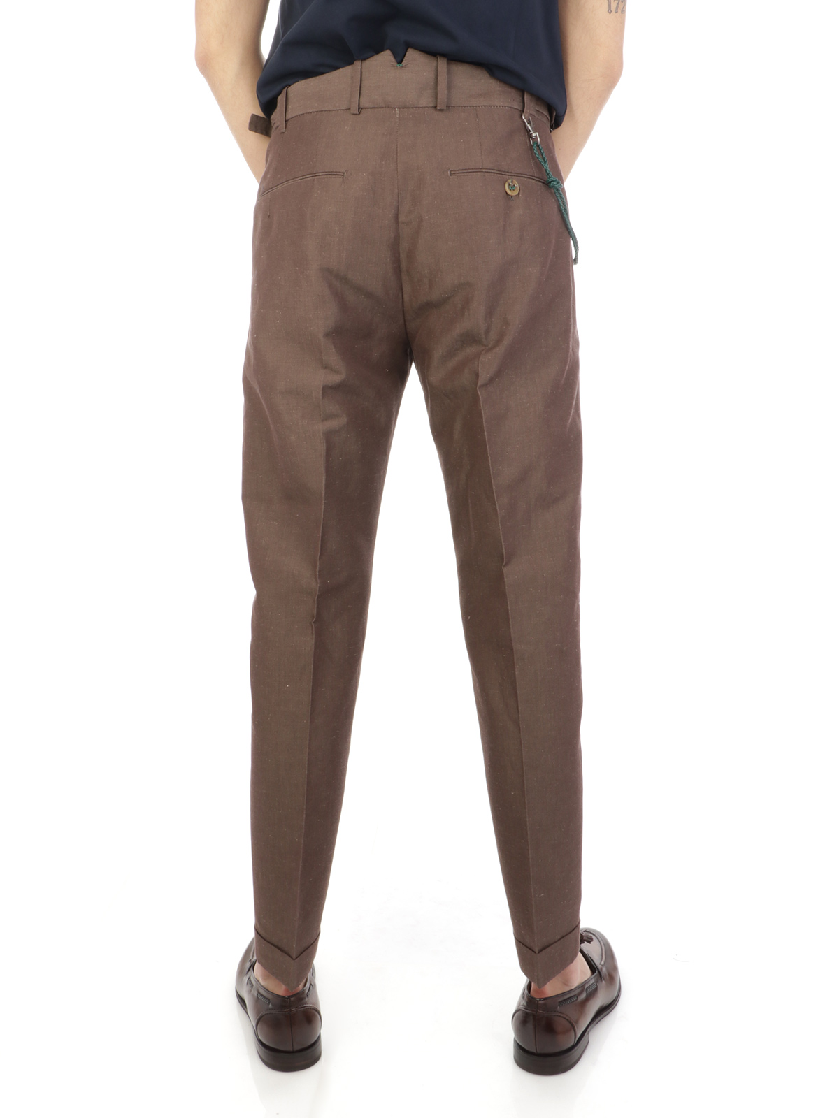 Picture of BERWICH | Men's Linen Retro Trousers