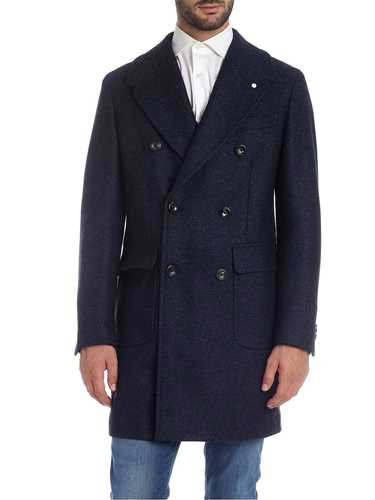 Picture of LUIGI BIANCHI MANTOVA | Men's Double-Breasted Wool Overcoat