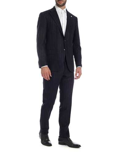 Picture of LUIGI BIANCHI MANTOVA | Men's Wool Striped Suit