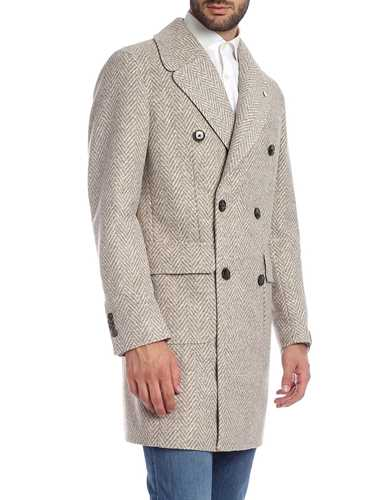 Picture of LBM 1911 | Men's Herringbone Wool Coat